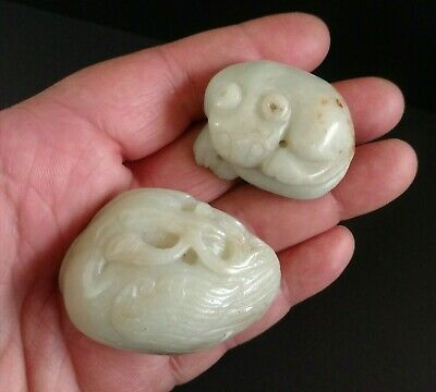 Chinese Jade  Carving of a Crane and a Cat, Late Qing to Republic Period