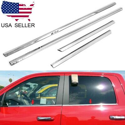 For 2004-15 Nissan Titan Crew Cab 4PC Stainless Steel Window Sill Overlay