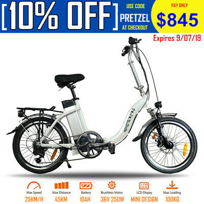 """New arrival 20"""" MINI portable folding electric bicycle 36V lithium battery 250w"""