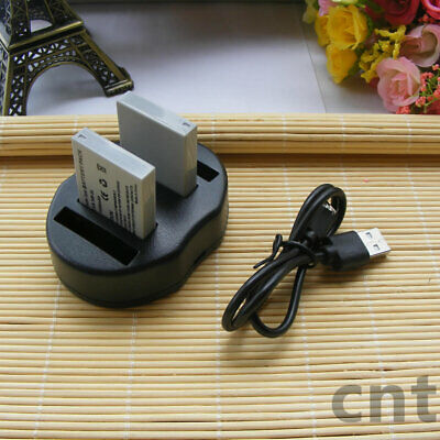 2XBattery+charger for CANON NB-5L Powershot SX230 SX220 SX200 SX210 S100 SX210iS
