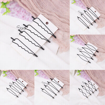 4Pcs/set Hair Clips Bobby Pins Invisible Curly Wavy Grips Salon Barrette Hairpin