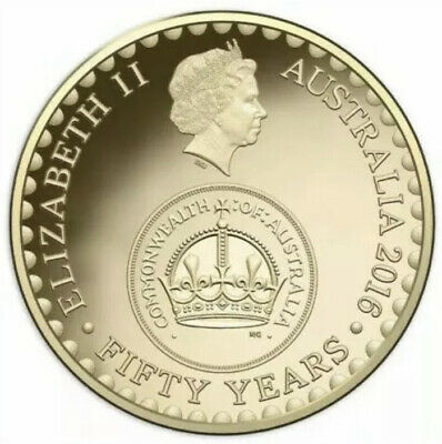 2016 Australian $2 Two Dollar Coin Fifty 50 Years Decimal Currency Commonwealth