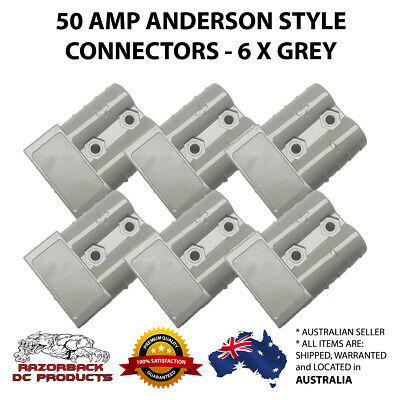 Premium 6x 50AMP Anderson Style Plug Solar Power Exterior Connector DC 50A 50AMP