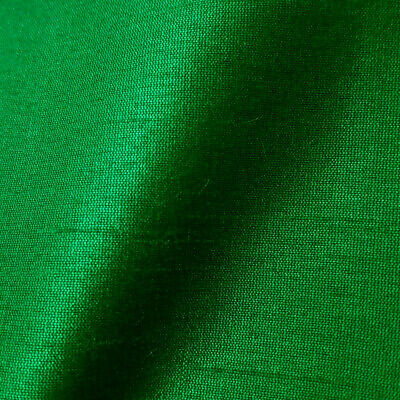 "Emerald Green Faux Silk Dupioni Fabric 58"" By The Yard Green Gemstone Fabric"