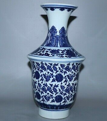 Vase weight 1030g,Chinese Exquisite  porcelain vase height 31.5cm
