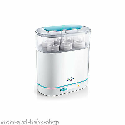 Philips 3 In 1 Electric Steam Sterilizer Kills 99% Germs Bacteria No Chemicals