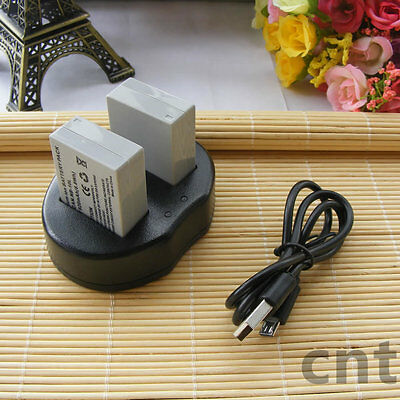 2X Battery + charger for CANON NB-10L Powershot G16 SX50 SX60 HS ,G1 X Mark 1