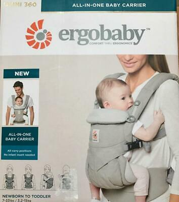 ERGOBABY 360 OMNI COTTON ERGO BABY Carrier Adjustable Sling Wrap. 8 COLORS