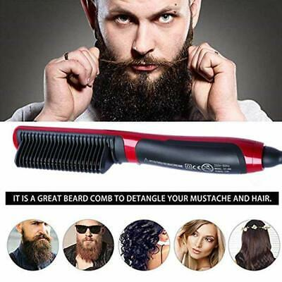 Men Quick Beard Straightener Multifunctional Hair Comb Curl Curler Show Tools BO