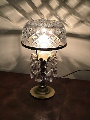 Crystal Dome Chandelier Table Lamp Bedroom Hallway French Decor