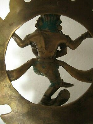 Old bronze SHIVA TANDAVA India HINDU TANDAVAM DANCE dancing Urthava copper brass