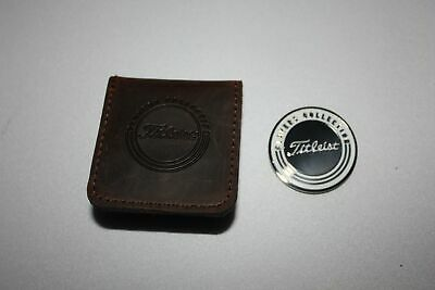 New Titleist Limited Edition Players Collection Ball Marker & Oil Leather Pouch