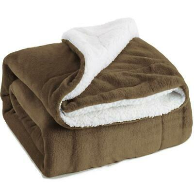 Sherpa Blanket Fleece Throw Reversible Blanket for Bed and Couch - Free Post