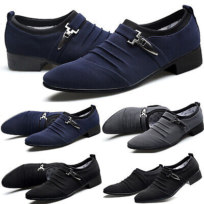 Mens Loafers Smart Wedding Formal Party Office Dress Work Shoes Slip On Casual