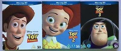 Toy Story 1,2,3 Complete Set ( 3D Blu Ray,Trilogy)
