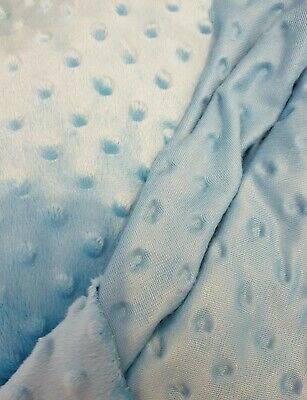 Soft, Cuddly baby Dimple popcorn Fleece  in a turquoise blue job lot of 4 metres