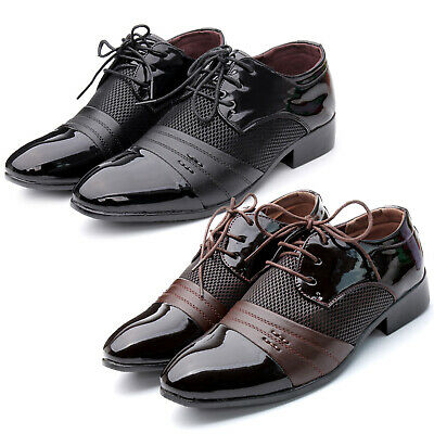 British Mens Business Dress Formal Pointed Toe Lace Up Office Work Wedding Shoes