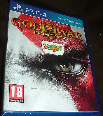 God Of War III 3 Remastered Playstation 4 PS4 NEW SEALED Free UK p&p Pal SONY