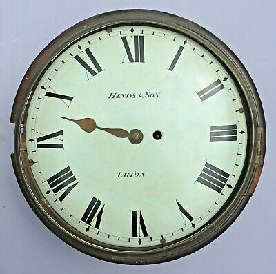"12"" Fusee English (Convex) Dial Clock. C.1845. Hinds & Son, Luton."
