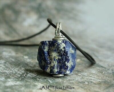 Lapis Lazuli 925 Silver Pendant & Necklace | Men's Crystal Healing Jewellery