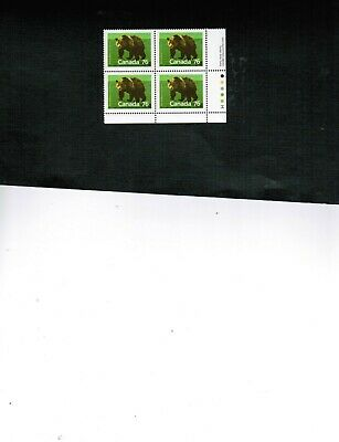 CANADA  1989 WILDLIFE  GRIZZLY BEAR   BL/4  MNH  # 1178 cat $12.50  BOOK 500