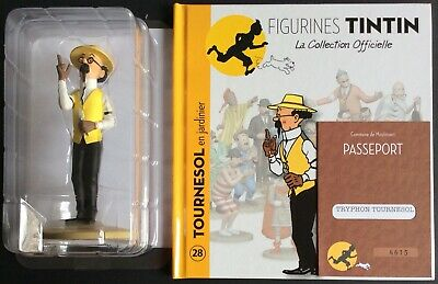 TINTIN Tournesol en jardinier Collection officielle figurine n°28 Comme neuf