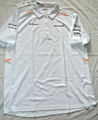 McLaren 2019 Formula 1 Team Smart White Polo/Tee Shirt/Sport Top: S/XXL/3XL