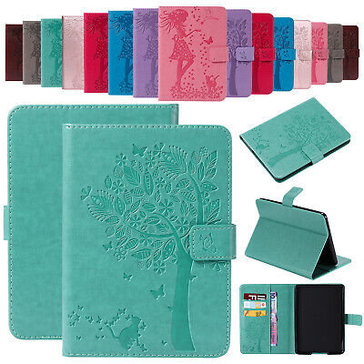 For Samsung Tab A 8.0 T387 Case Patterned Magnetic Stand Leather Card Slot Cover