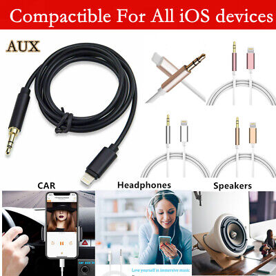 Aux Cable 3.5mm Lead Car Stereo Transfer Audio Music For iPhone 7 8 Plus X XS XR
