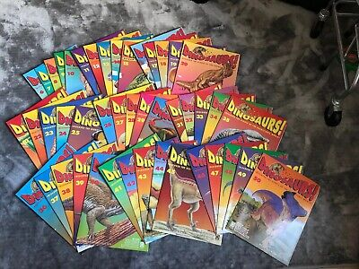 Orbis Play & Learn DINOSAURS! Magazines 45 Issues Total Great Condition