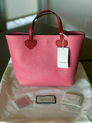 0252b4a6f AUTHENTIC NWT GUCCI Baby Girl Children's Leather Tote Bag Pink ...