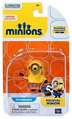 Despicable Me Medieval Minion Figure - Minions Movie Film Poseable Toy - New