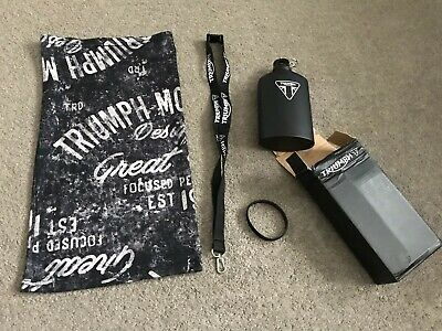 GENUINE TRIUMPH  BUNDLE ( Fathers Day) Snood ,Wrist Band ,Drinks Bottle ,lany