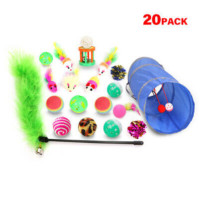 Cat Toy Set Cat Toy Mouse Cat Ball Toy Variety Kitty Toy Set Cat Way Tunnel K1H7