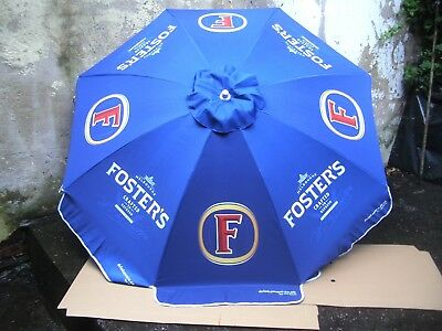 Fosters lager beer 1.8 MTR ROUND PARASOL PUB GARDEN CAFE blue brand new