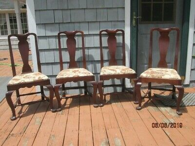 Set of 4 Queen Anne dining room or side chairs