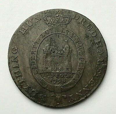 Dated : 1794 - Copper Coin - Half Penny Token - Suffolk - Blything / Yeomanry