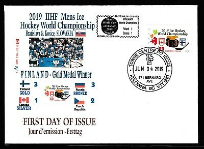 2019 Mens IIHF World Cup  Hockey in Slovakia. - FDC  -CDN Picture Postage