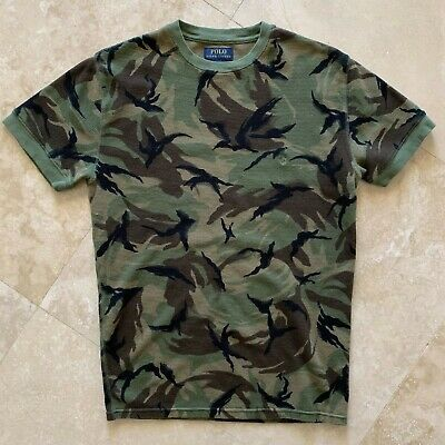 5281a9db Ralph Lauren Polo Men's Medium Camouflage Waffle Knit Thermal Crew-Neck  T-Shirt