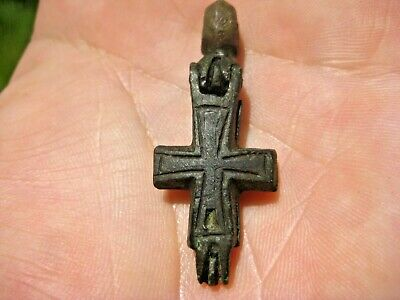 ANCIENT Viking CROSS PENDANT with Niello