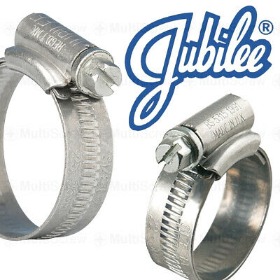 Genuine Jubilee® Clips Mild Steel For Hose, Gas, Air Pipe Clamps Worm Drive Zinc