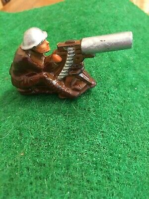 Soldier Operating 30 Caliber Machine Gun;Very Nice Condition; Same Day Shipping