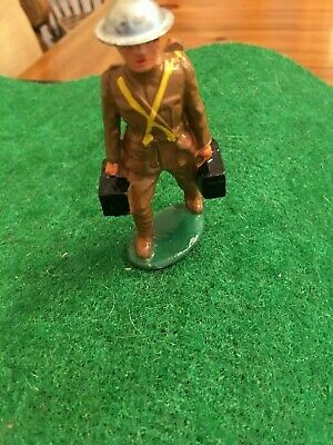 Soldier Carrying Ammo Boxes; Very Nice Condition; Same Day Shipping