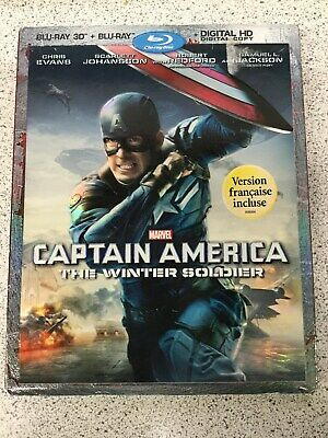 Captain America: The Winter Soldier (Blu-ray Disc, 2014, Includes Digital)