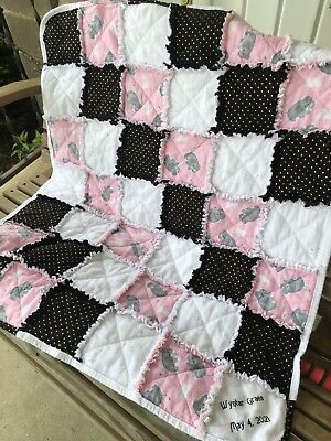 NEW! Custom Made Crib, Baby, Toddler size handmade rag Quilt, You Choose Colors