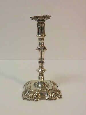 "19th C. English Silver Plate on Copper 5.5"" Miniature Candlestick"