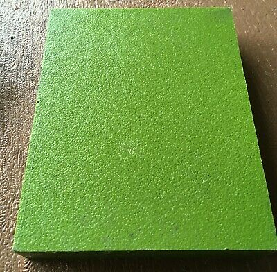 "Plastic Block HDPE  - 6"" x 4 3/4"" x 1"" for Machining - Lime Green"
