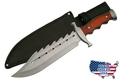 SZCO Supplies 211398 Gator Back Bowie Knife Stainless Steel Skinning Knife, New