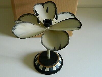"NEW Authentic Mackenzie Childs Tulip Candlestick 8.75"" dia., 9"" tall"