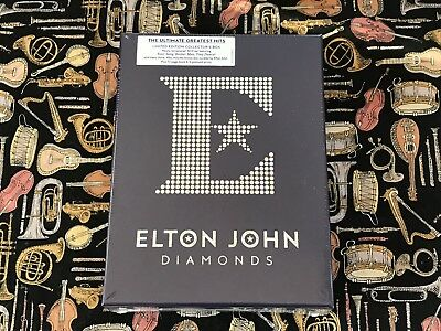 ELTON JOHN - DIAMONDS CD x3 LIMITED EDITION COLLECTOR'S BOX 72 PAGE BOOK & MORE